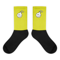 photo of Funky yellow and black socks