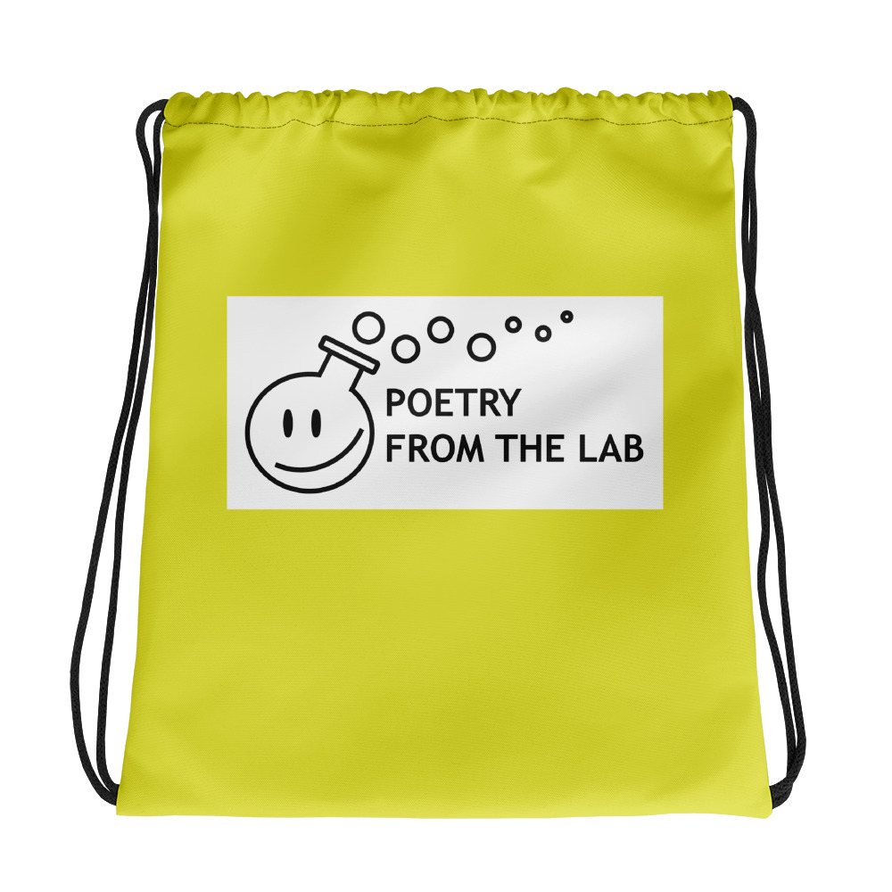 photo of yellow string bag for poetry and science lovers